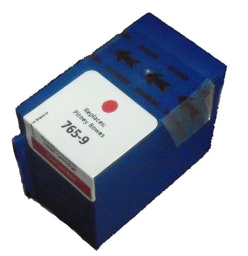 Premium Quality Compatible Red Inkjet Cartridge compatible with the Pitney Bowes 765-9