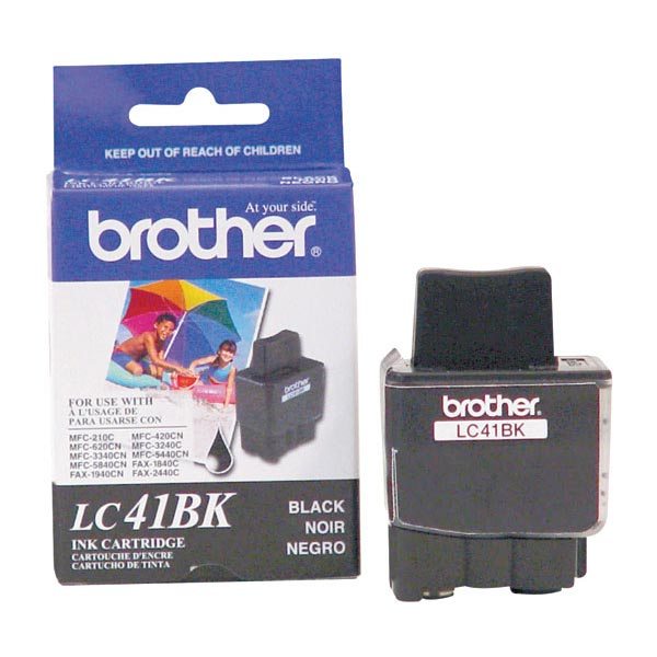 Genuine OEM Brother LC-41BK Black Inkjet Cartridge (500 page yield)