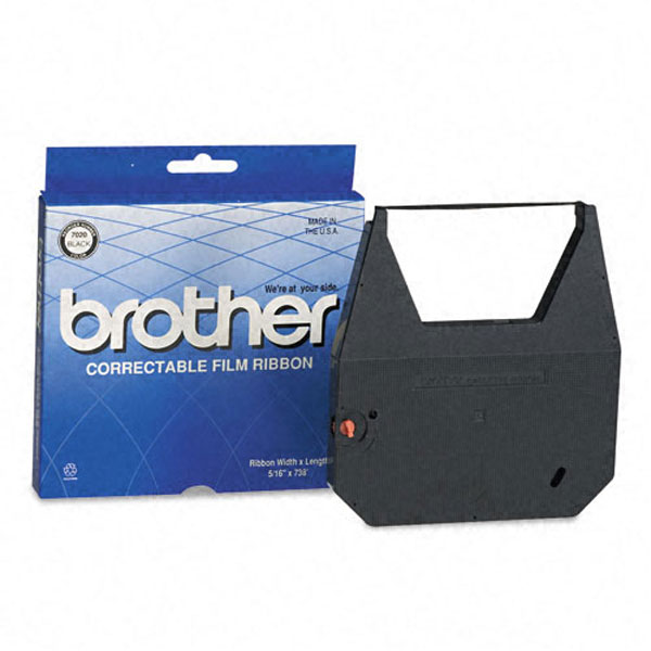 Genuine OEM Brother 7020 Black Correctable Typewriter Ribbon (2 pk)