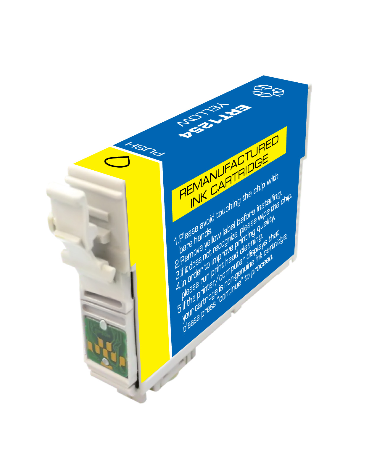 Premium Quality Yellow Inkjet Cartridge compatible with the Epson (T1254) T125420